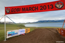Gobi March finish line of the long stage