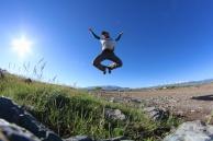 Judy flying