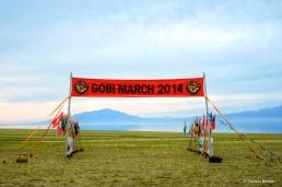 Die Ziellinie des Gobi March 2014