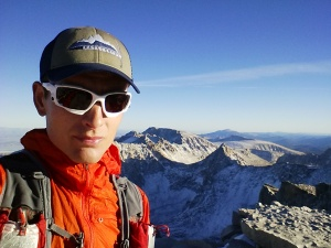 summit selfie at Mount Whitney