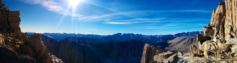 Panorama from Jct with John Muir Trail